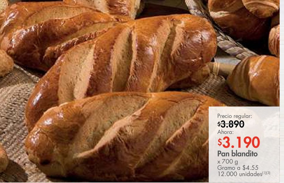 Oferta de Pan blandito x 700 g por $3190