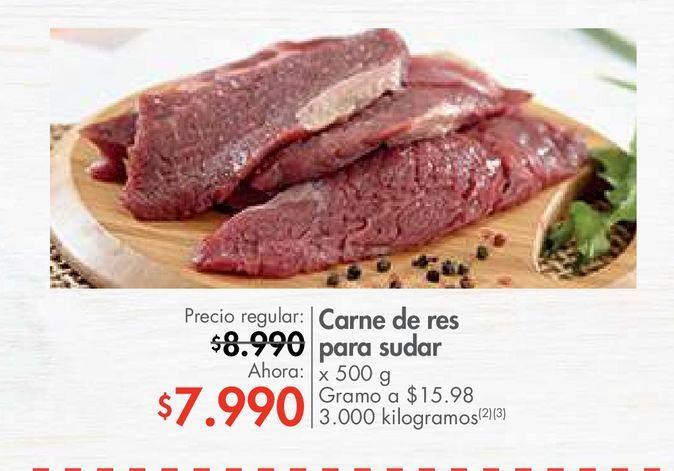 Oferta de Carne de res para sudar x 500 g por $7990
