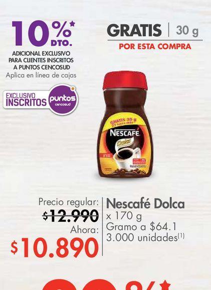 Oferta de Nescafé Dolca x 170 g por $10890