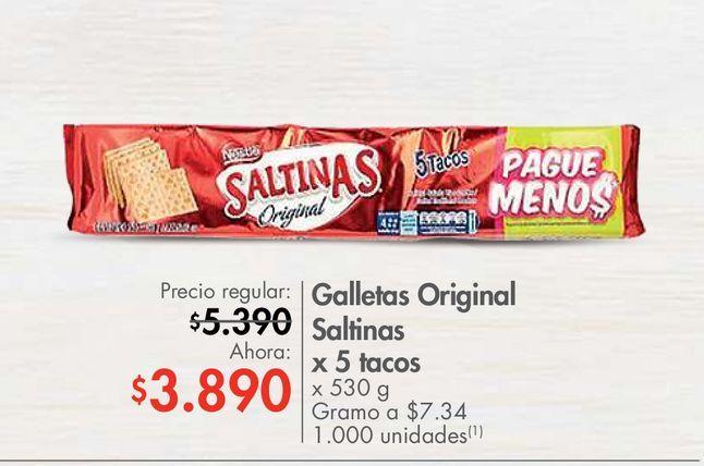 Oferta de Galletas Original Saltinas x 5 tacos x 530 g  por $3890