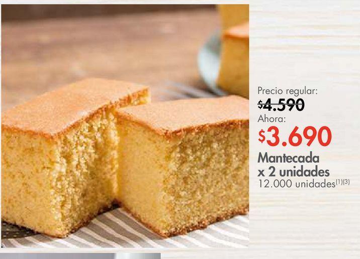 Oferta de Mantecada x 2 unidades por $3690