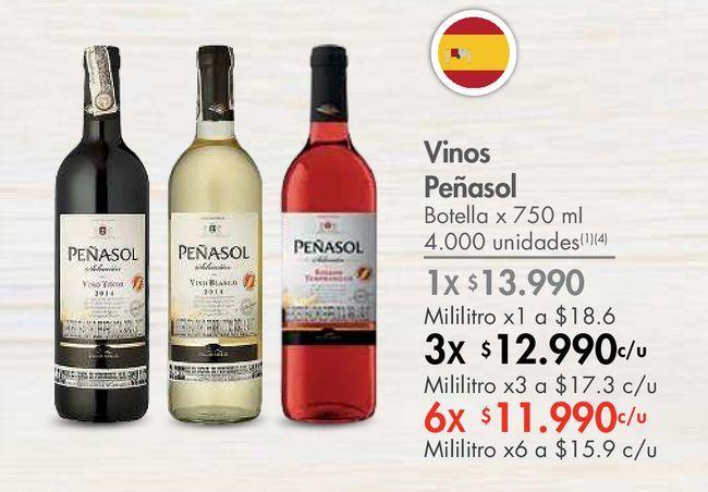 Oferta de Vinos Peñasol Botella x 750 mI por $13990