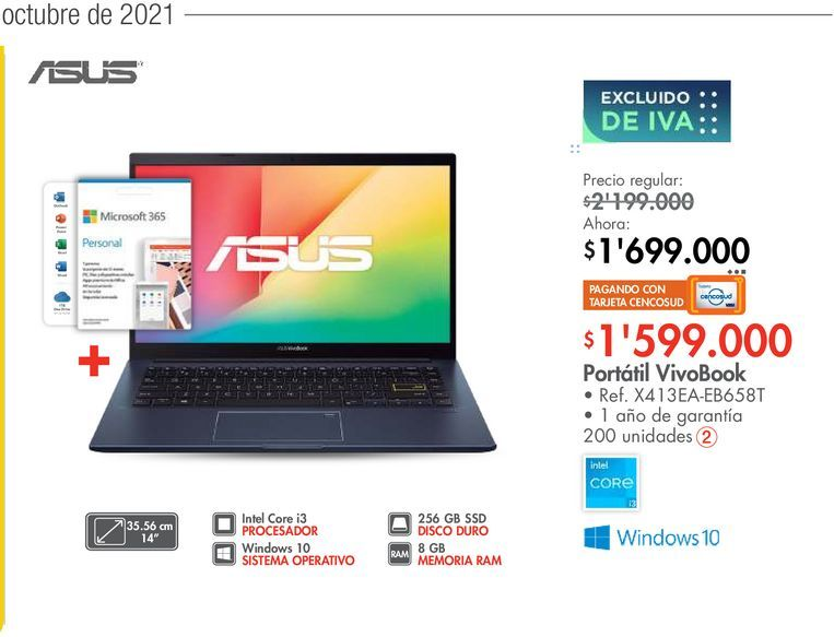 Oferta de Portátil VivoBook por $1599000