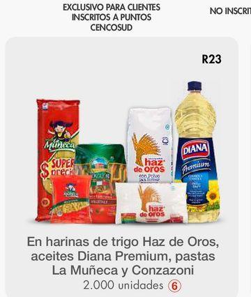 Oferta de En harinas de trigo Haz de Oros, aceites Diana Premium por
