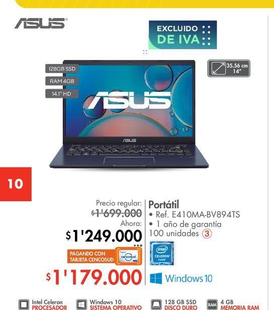 Oferta de Portátil Asus por $1249000