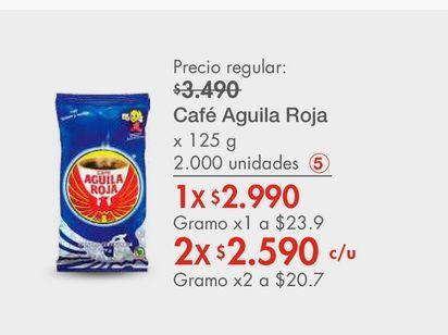 Oferta de Café Aguila Roja x 125 g por $2990