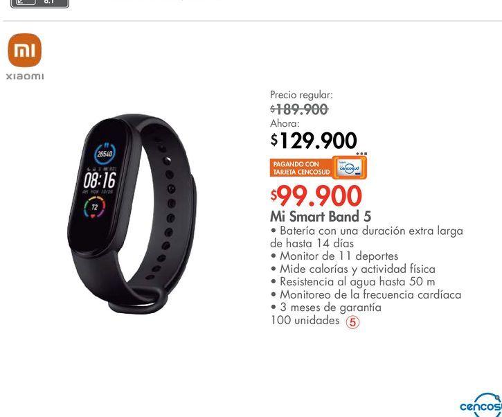 Oferta de Mi Smart Band 5 por $129900