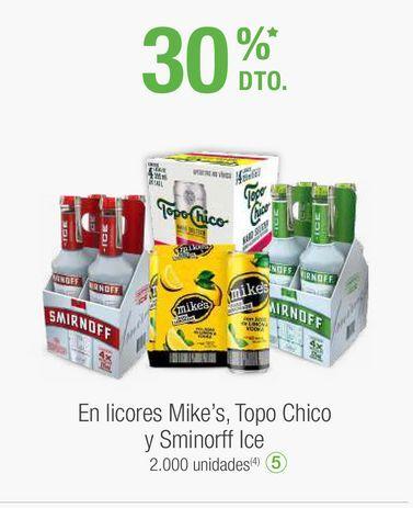 Oferta de Bebidas alcohólicas Smirnoff ice por