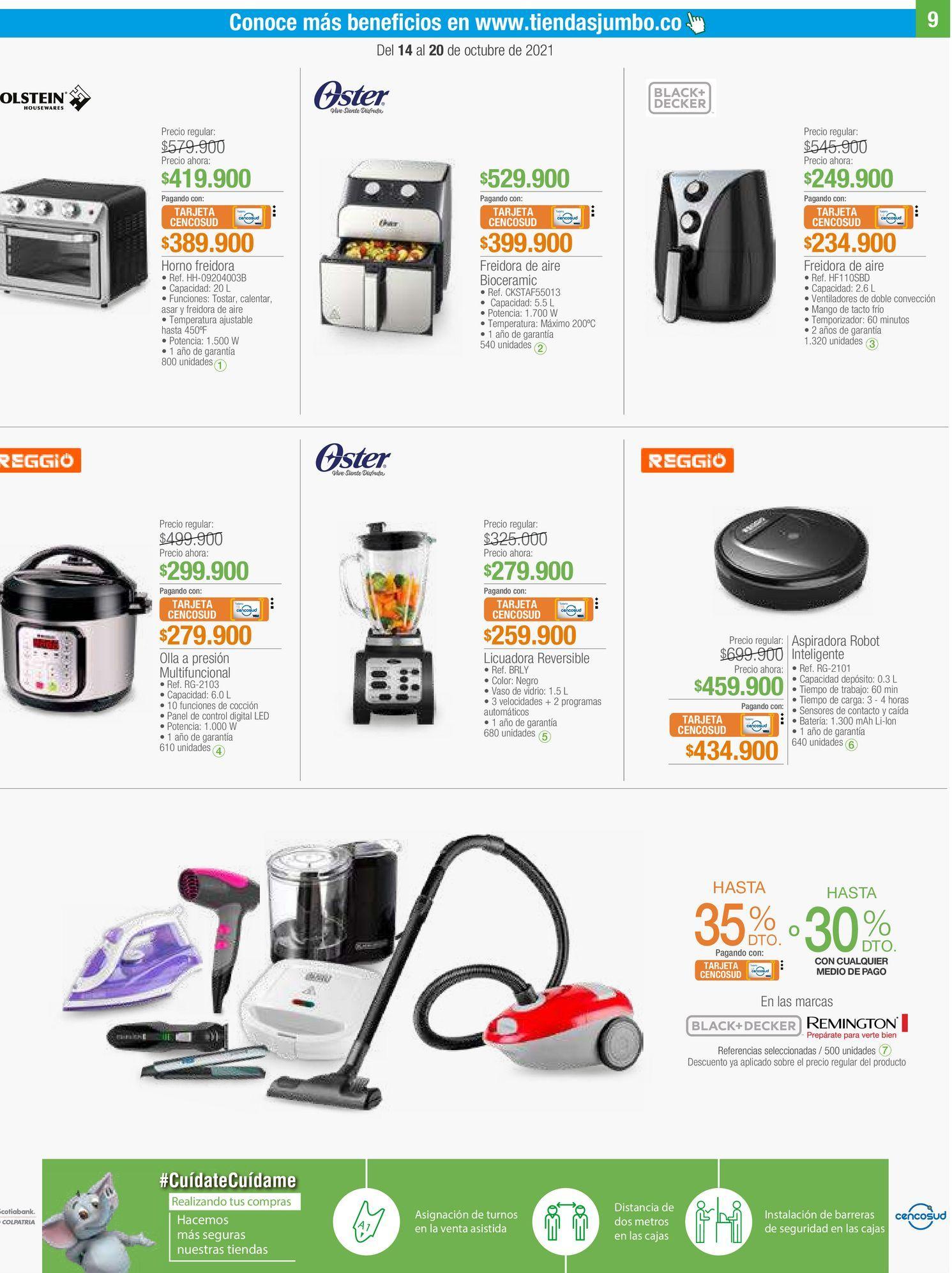 Oferta de Pequeños electrodomésticos por